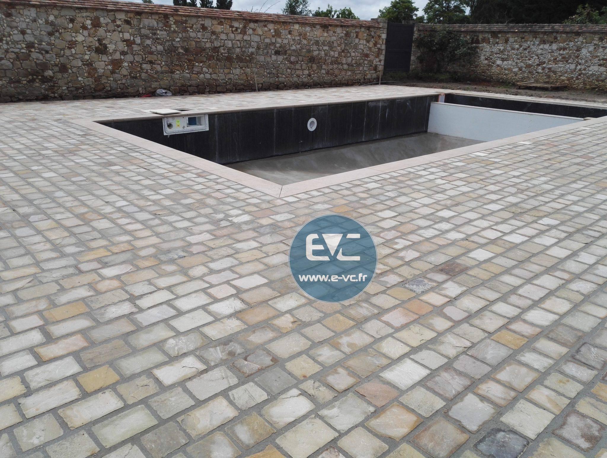 Comment Nettoyer Terrasse Pierre Naturelle barbizon: aménagement d'une piscine en pierre naturelle - evc